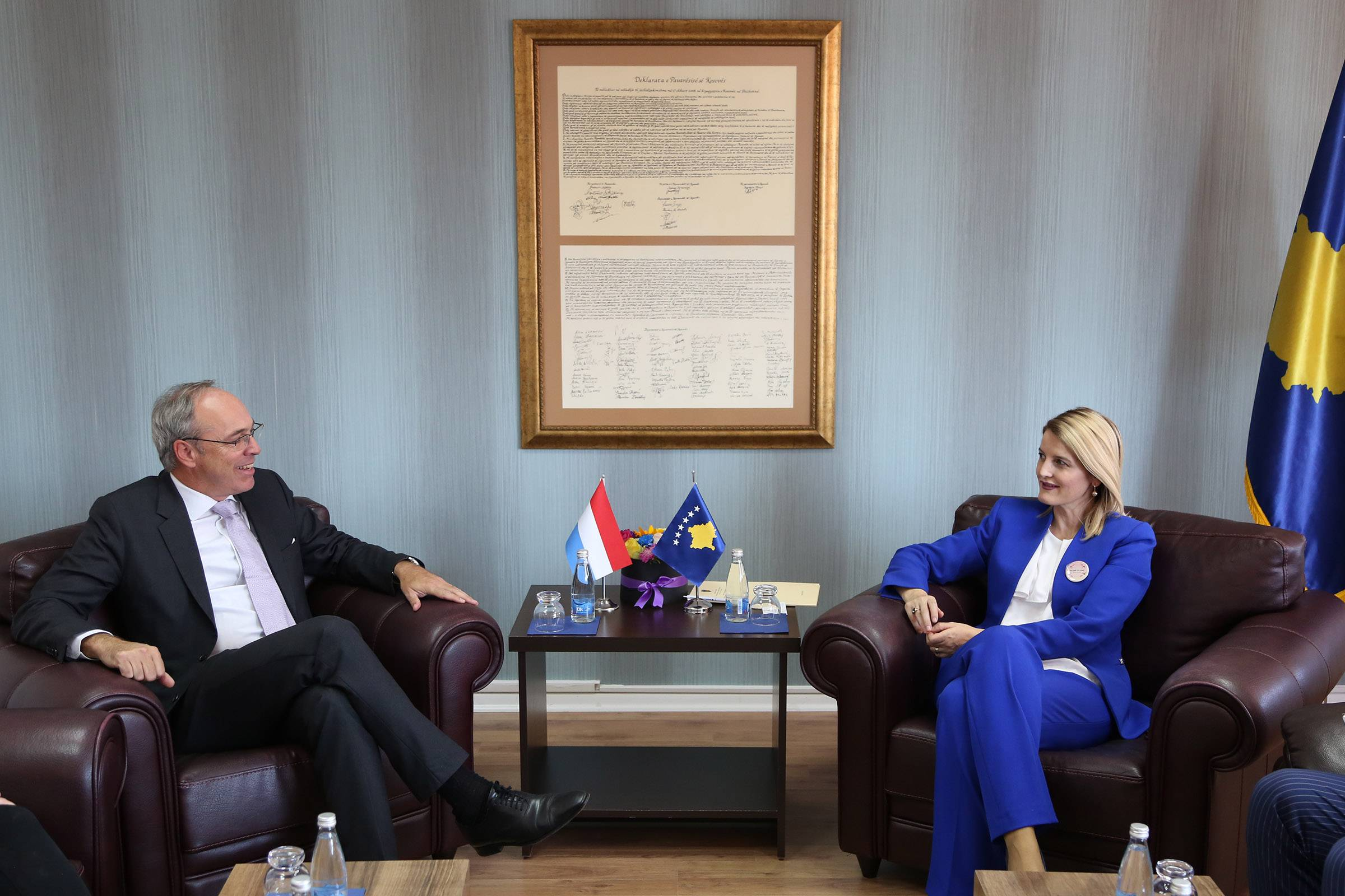 Minister Hoxha in a meeting with Ambassador Schmit: We look forward to Luxembourg's support for visa liberalization