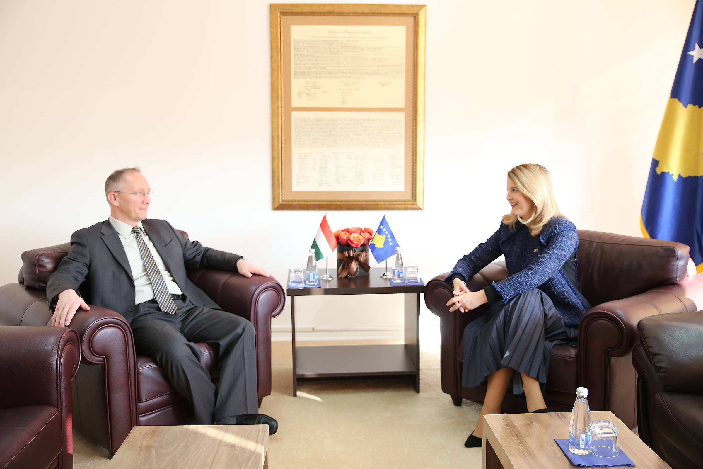 Minister Hoxha highly praises the cooperation with Hungary regarding integration process
