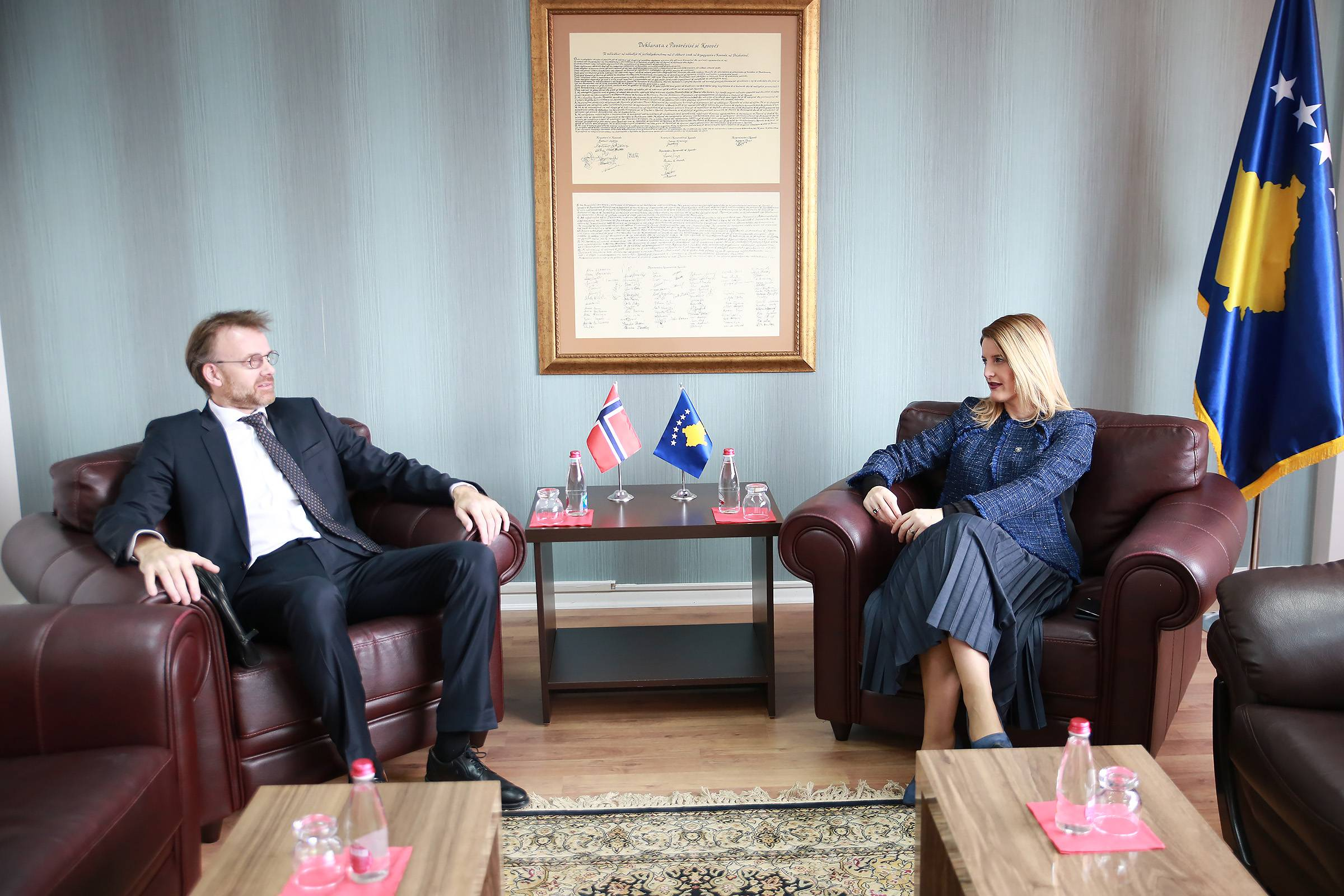 Minister Hoxha highly appreciates Norway's contribution to the integration processes
